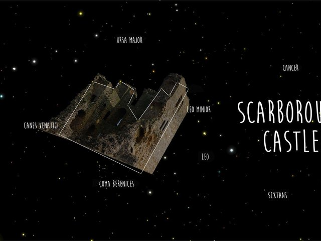 The new constellation visible from Scarborough has been named 'Scarborough Castle'.