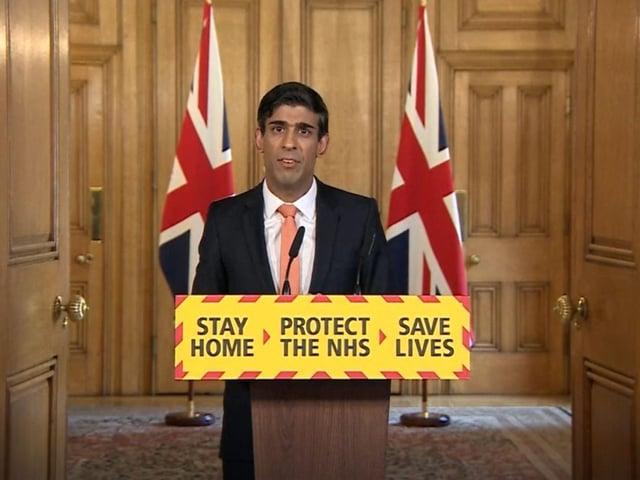 Chancellor Rishi Sunak during a media briefing in Downing Street, London, on coronavirus. Photo: PA