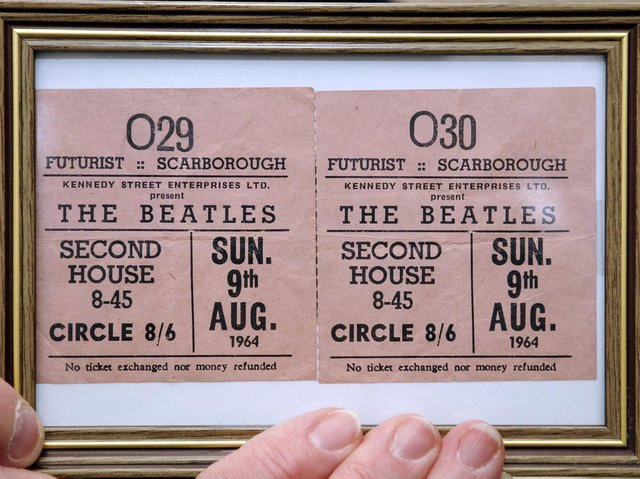 Tickets for one of the 1964 concerts.