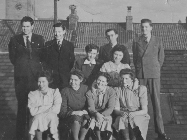 W Rowntree staff, in the 1940s