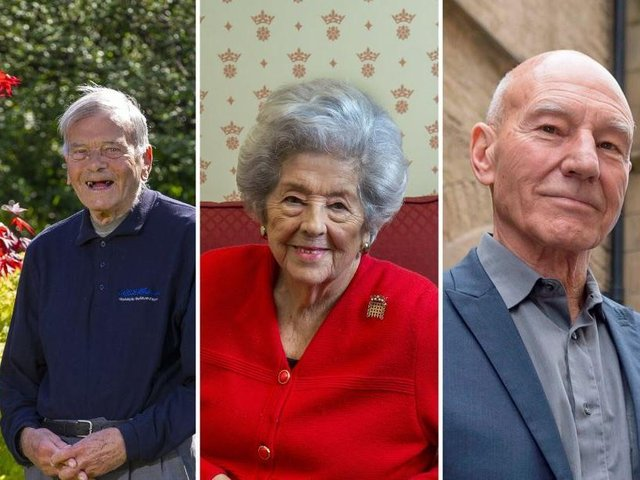 Famous Yorkshire folk, including Dickie Bird, Betty Boothroyd and Patrick Stewart have revealed their memories of VE Day.