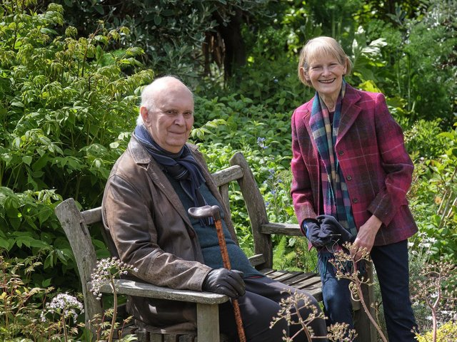 Alan Ayckbourn and his wife Heather Stoney