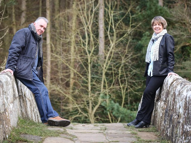 Mark Stratton and Sheila Carter of Esk Valley Theatre
