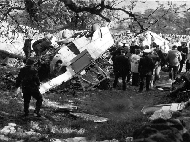 The horrific crash at Dibbles Bridge