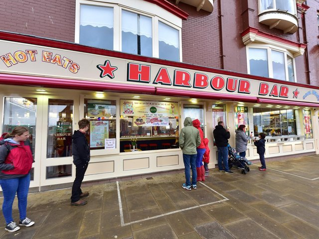 The ice cream parlour on Scarborough's seafront