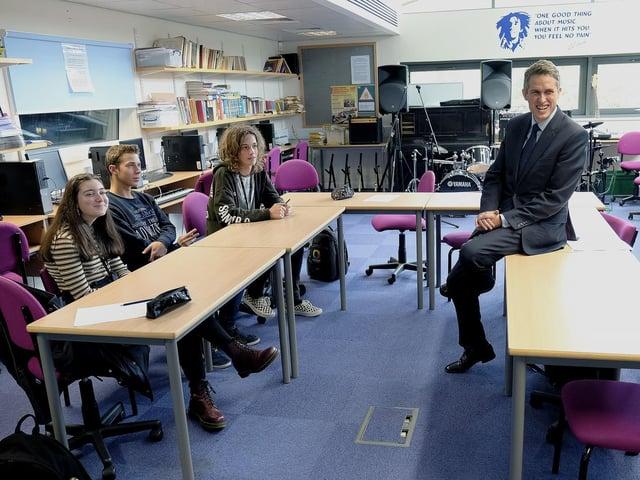 Gavin Williamson visits Scarborough Sixth Form College last year