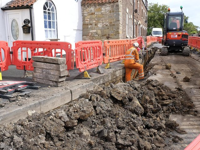 Vital electrical works start in the Cambridge Place area of Scarborough