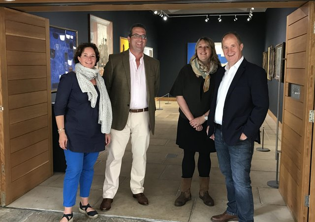 Kevin Hollinrake MP (right) with Ryedale Folk Museum representatives.