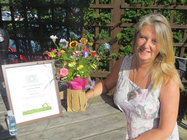 Debbie Swales with her Yorkshire Countrywomen's Award