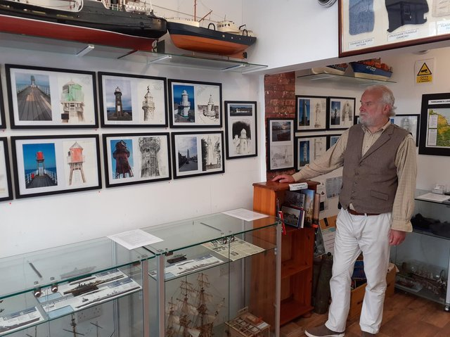 Colin Challen with his pictures