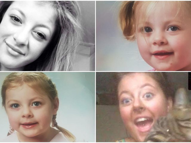 Four images of Leah, released by police.