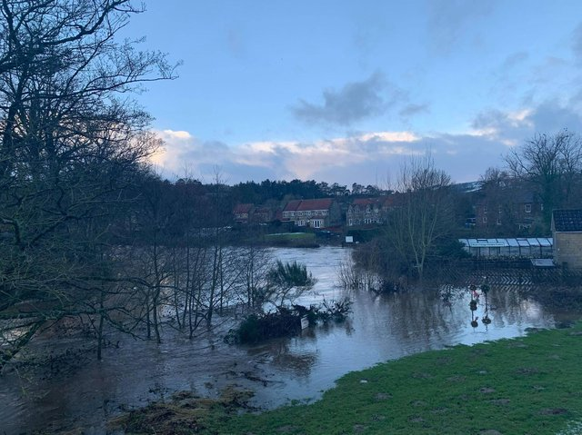 This is what it looked like in Lealholm this morning, photo contributed by Anna Featherstone.