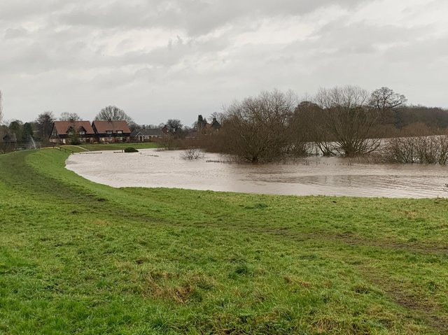 The standing water level in Old Malton.