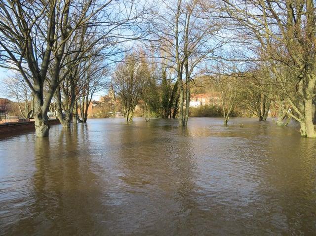 The scene as flood waters remain in Malton.