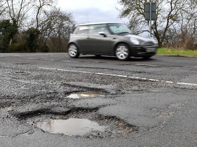 North Yorkshire County Council will receive £12.6 million less to repair the roads next year.