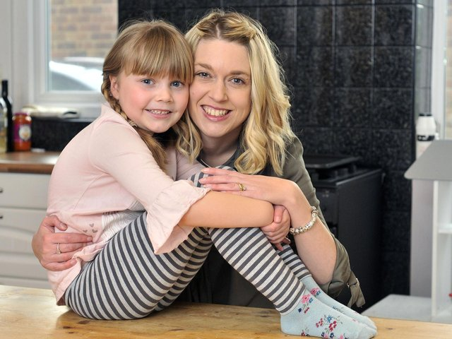 Scarborough News Mother's Day winner, 2018 - daughter Amelia (6) with mum Amber Mansfield.