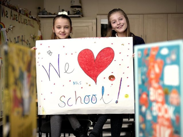 Daisy and Mia look forward to the new term at Overdale School in Eastfield.