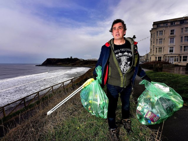 Mr Plant has been clearing litter since his dog was severely injured.