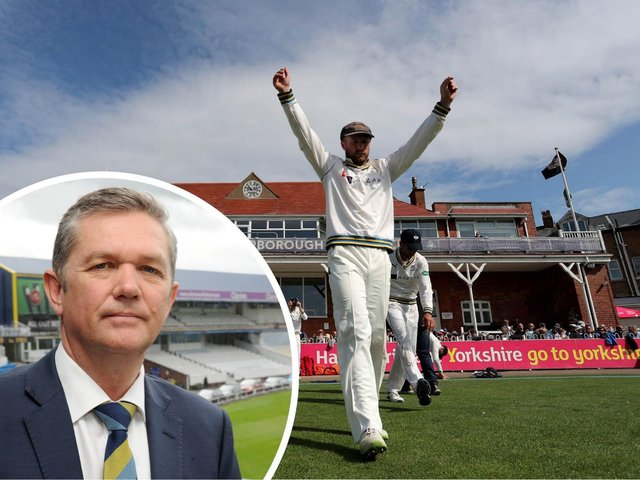 """""""Scarborough is very much the jewel in the crown for county cricket"""" insists Yorkshire CEO Mark Arthur (inset)"""