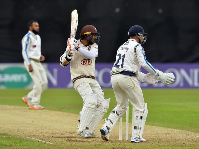 Kumar Sangakkara in action for Surrey