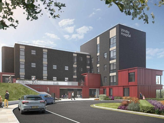 An artists image of how Whitby Hospital will look when the work is complete.