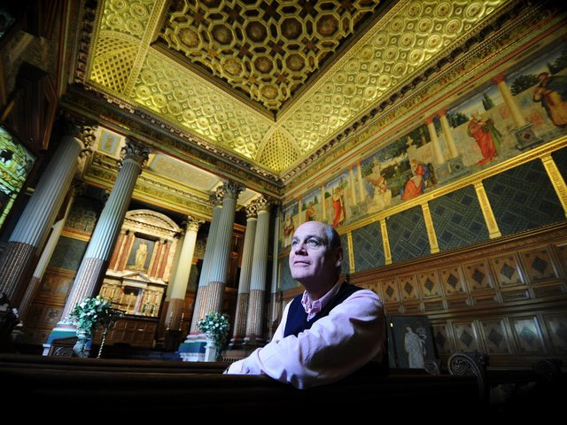 Simon Howard, pictured at the chapel at Castle Howard