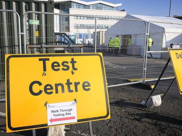 The covid-19 testing centre at William Street Coach Park in Scarborough. Picture: JPIMedia/ Richard Ponter