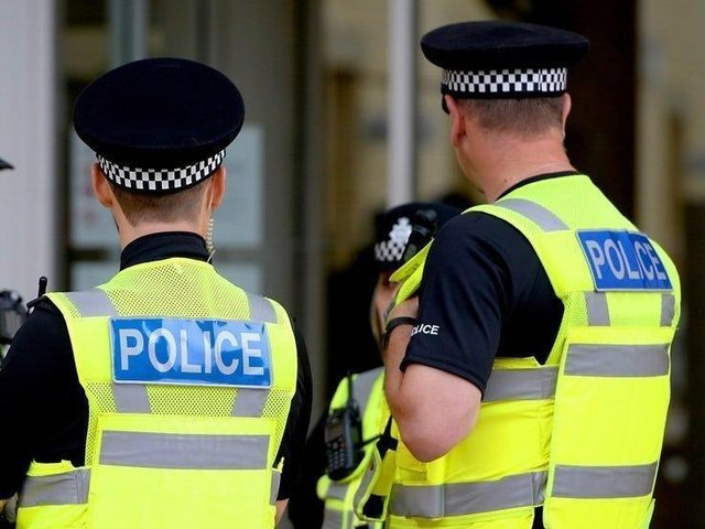 Drugs were seized in a police raid on Friday.