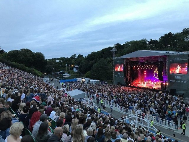 Jess Glynne at the Open Air Theatre in July 2019.