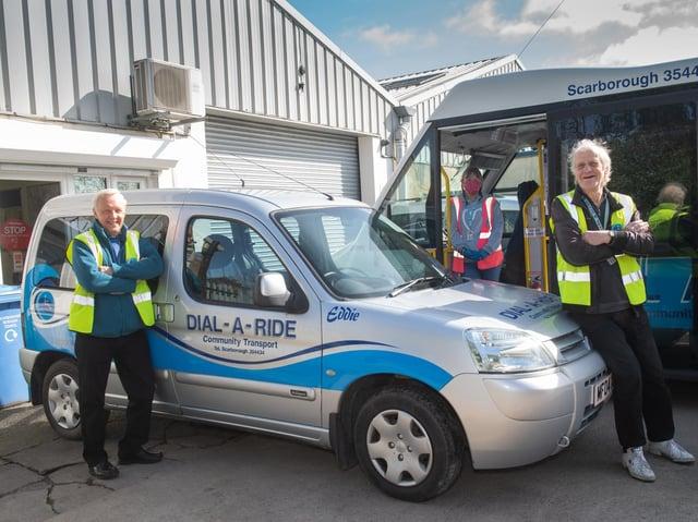 Driver Bob Monghan, Driver Helen Todd, Passenger Assistant Ken Davison