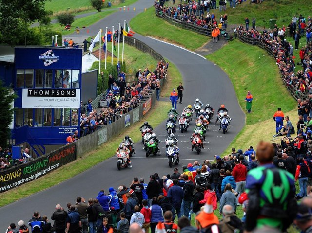 A Gold Cup race at the Oliver's Mount circuit.