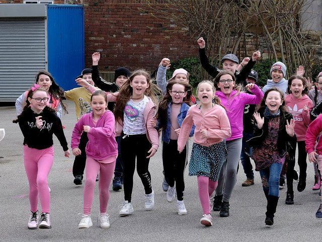Friarage School pupils had a special pink day in aid of brain tumour research month in memory of former pupil Jessica Saye.