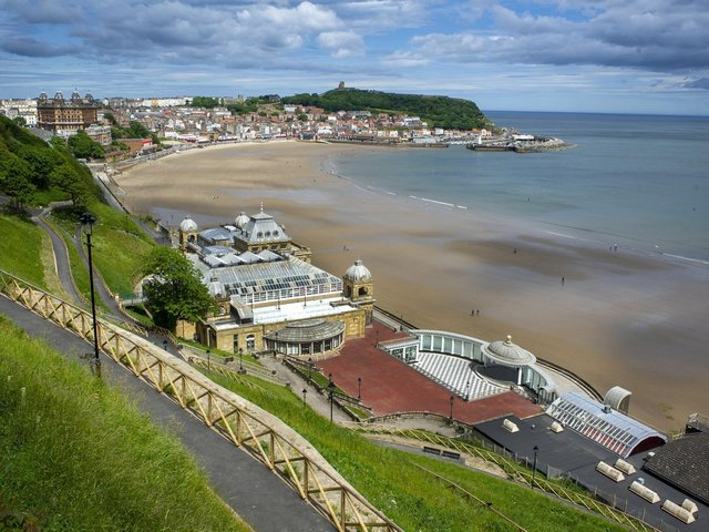 View across Scarborough's South Bay