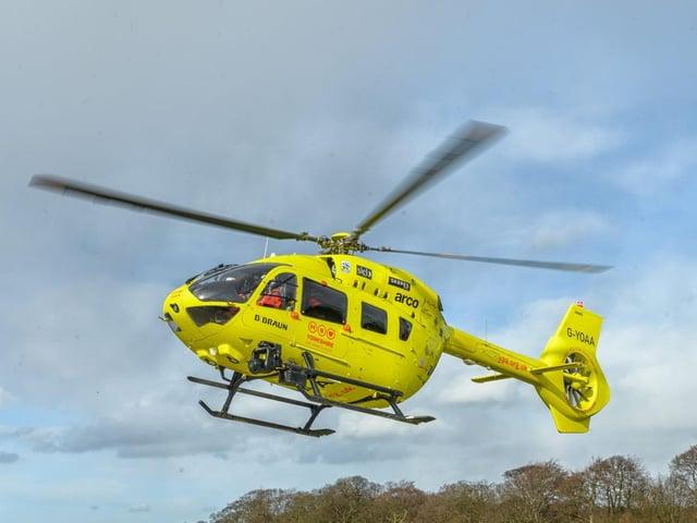 The Yorkshire Air Ambulance stock image. Picture: Yorkshire Air Ambulance
