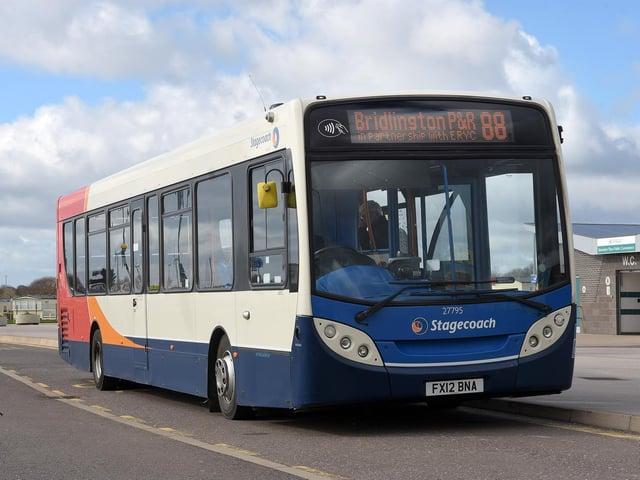 Bus at Bridlington park & ride.