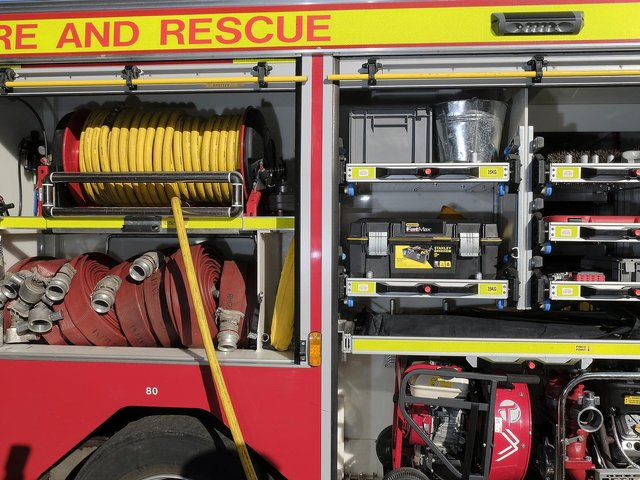 Three fire crews were called out yesterday afternoon.