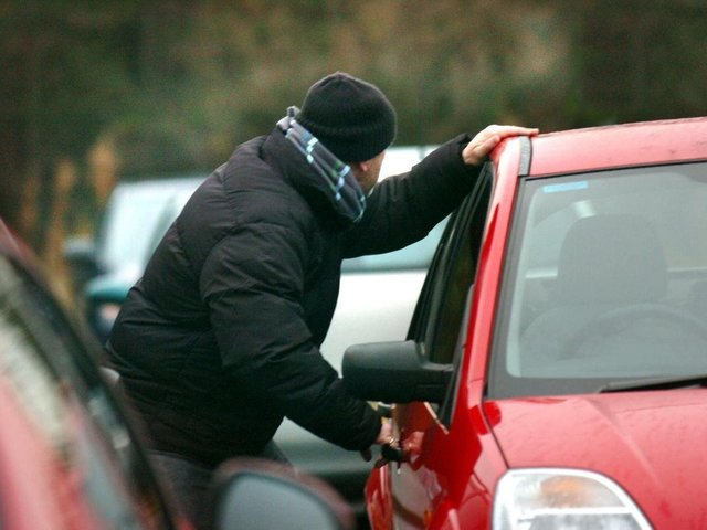 Four cars were stolen from by simply opening the unlocked doors. Stock image.