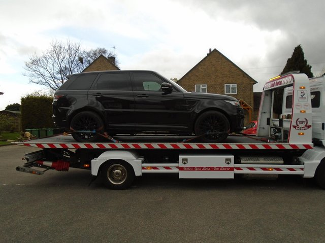 The car was seized by police earlier today.