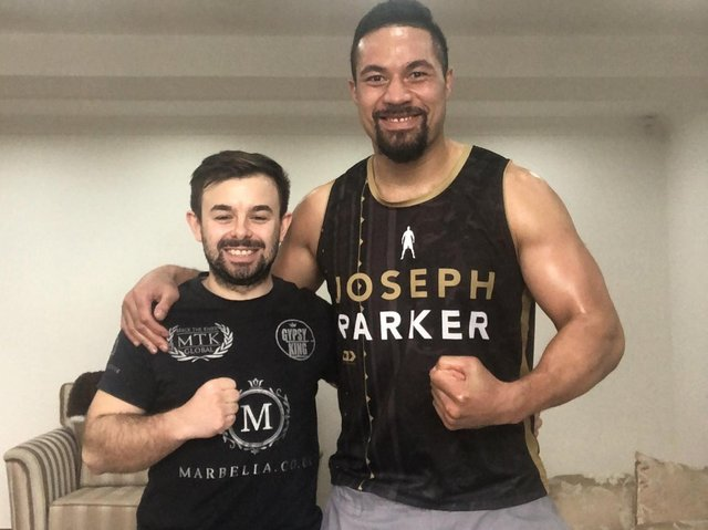 TEAMING UP: Matty Towey (left) and Joseph Parker