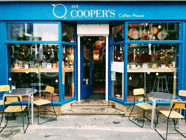 Mr Cooper's Coffee House is reopening on Friday April 16 Then from 9am-4pm every day for takeaway and outside seating.