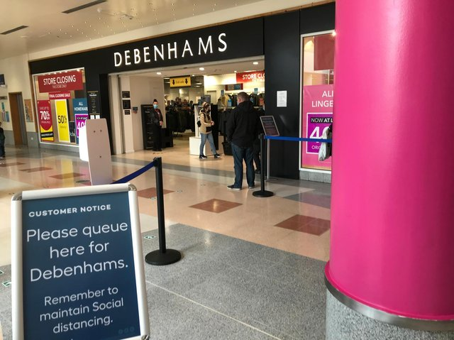 Debenhams has reopened for its final clearance sale before shutting for good.