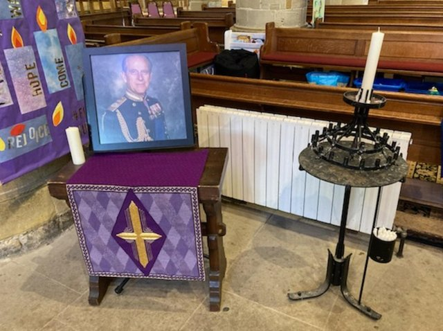 St Mary's Church will open on Wednesday and Saturday this week so residents can reflect on the Duke of Edinburgh's passing.