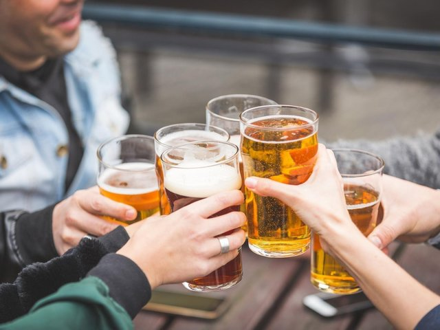 Beer gardens open as lockdown restrictions are eased.