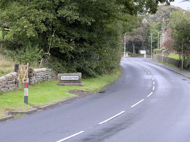 The main road into Cloughton.