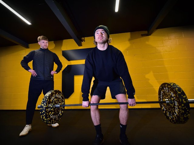 James Cornhill and Matty Young at Form 360 gym.