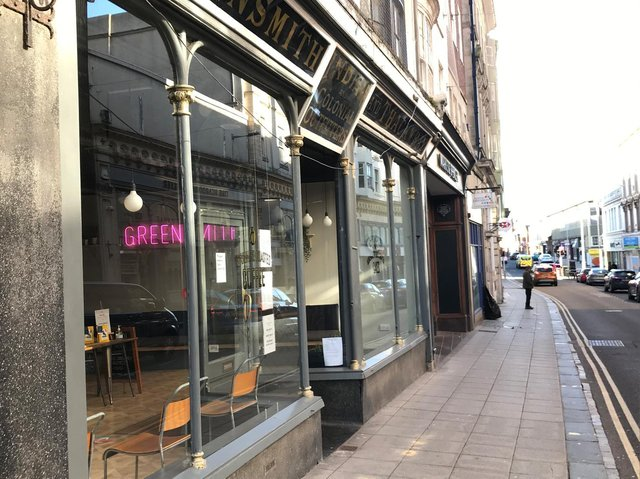 The cafe has applied to put seating on the pavement.