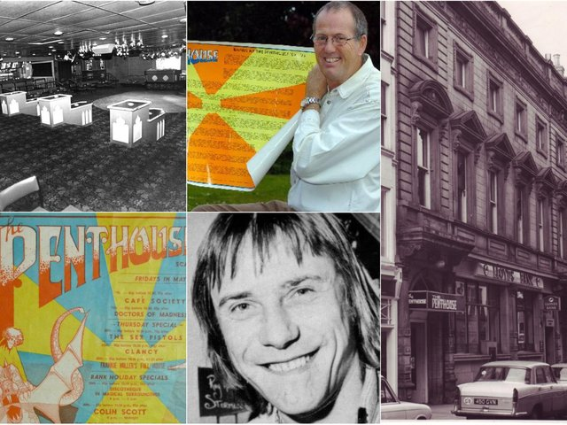 Photo montage includes ex-Penthouse DJ Mat Watkinson and owner Pete Adams, now Swami Dhyan Rahim.