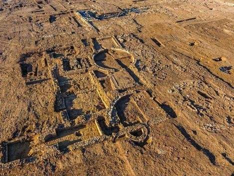Aerial shots show off the scale of the site unearthed in Eastfield.