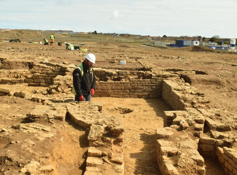 Archaeologists have been working hard on the site that was discovered last year.