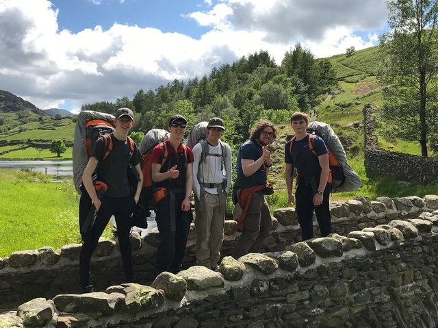 Some of the Scarborough Sixth Form students who took part in the expedition in memory of the Duke of Edinburgh on Saturday